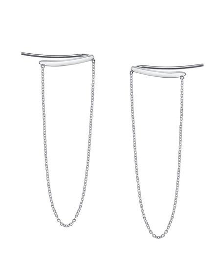 Gabriela Artigas Draping Chain Staple Earrings in 14K White Gold
