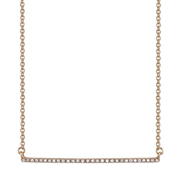 Gabriela Artigas Pave Bar Necklace in Rose Gold