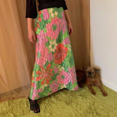 Vintage Kintsugi Floral Quilted Dress
