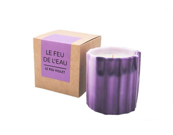 Le Feu De L'eau Violet Candle