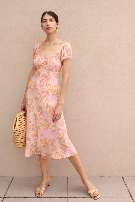 Pink Papaya Floral Dress