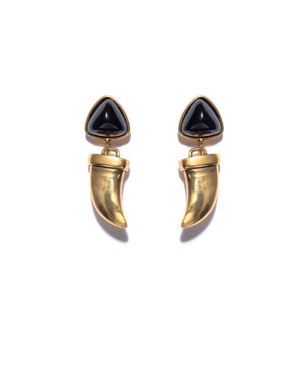 Lizzie Fortunato Onyx Talisman Earrings