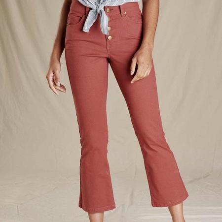 Toad & Co Earthworks Kick Flare Pant - Rhubarb