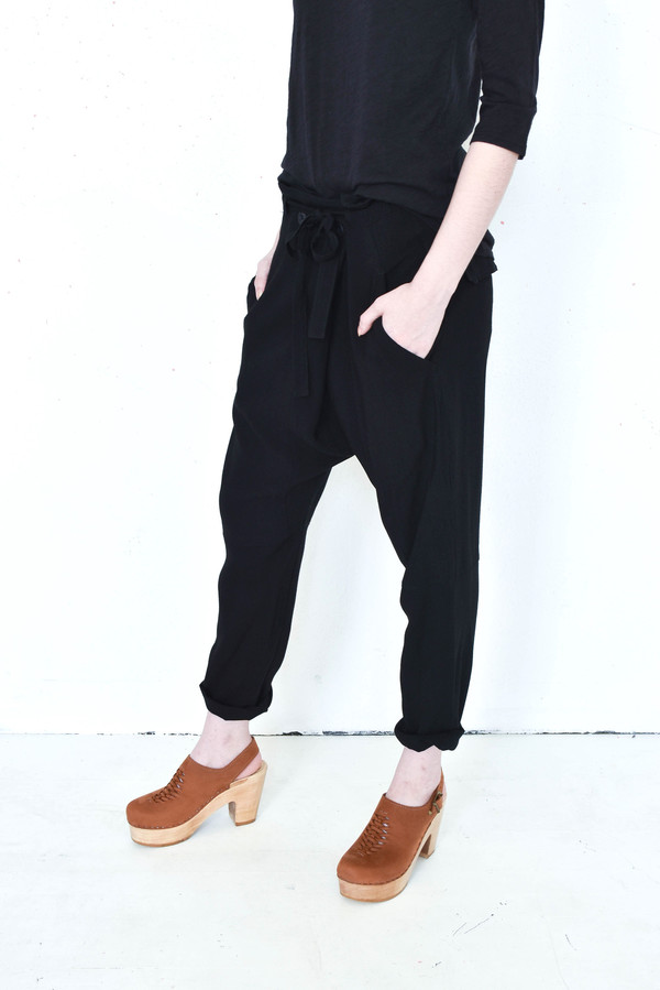 Pharaoh Draped Thai Pant in Black