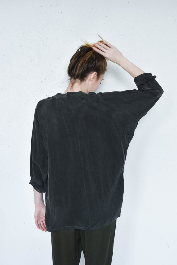 Pharaoh Oversize Shirt in Tar