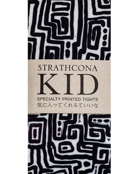 Kid's Strathcona Black + White Maze Tights