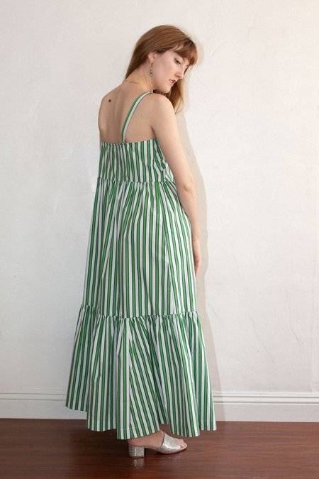 No.6 Eden Dress - Green Stripe