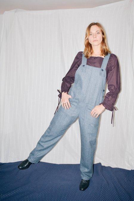 Conrado Nora Heavy Wool Overalls - Blue Grey