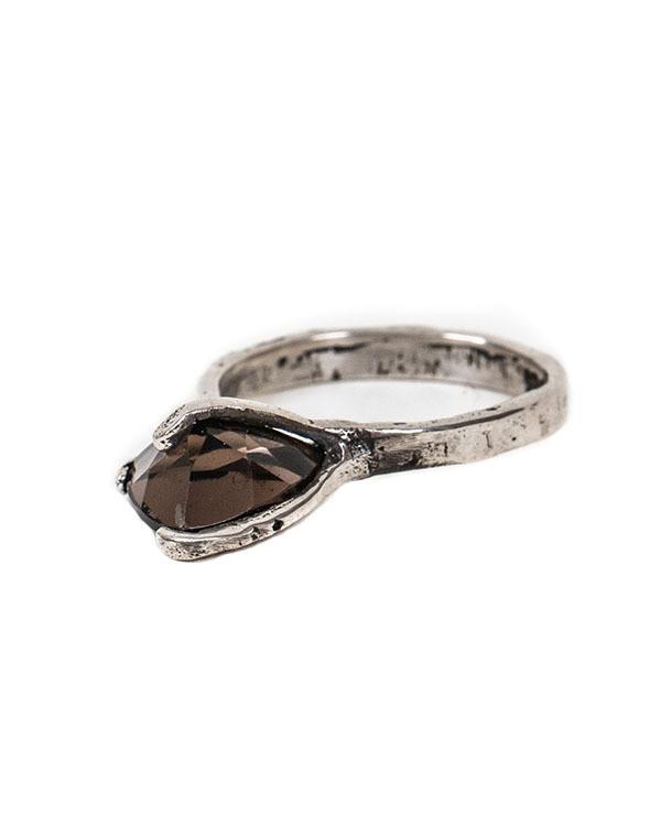 Unearthen Mini Spectra Ring with Smokey Quartz