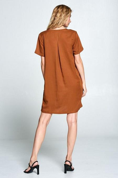 Ellison V Neck Shift Dress