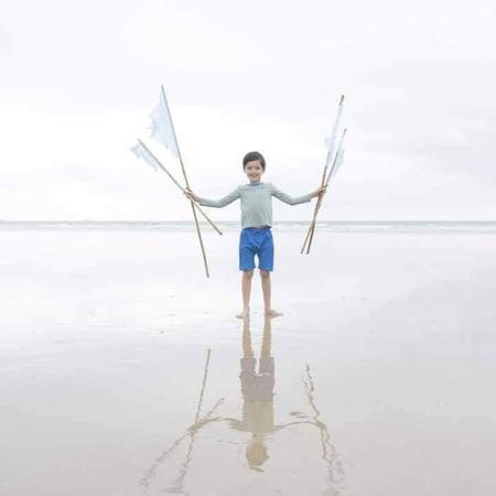 Kids Pacific Rainbow Jacob Swim Short - Ocean Blue