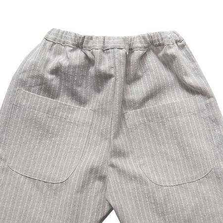 Kids Makié Makie Phil Pants - Grey/White Stripes