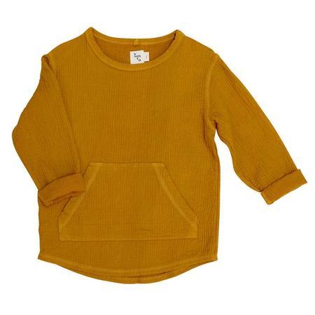Kids Nico Nico Paz Quilted Sweatshirt - Mustard Yellow