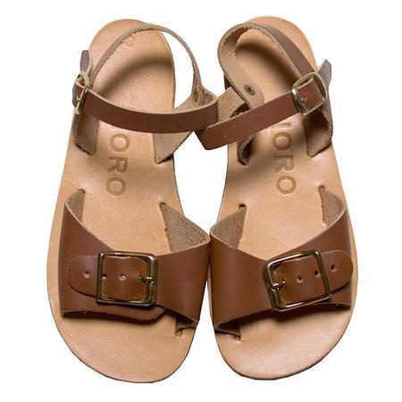 kids Noro Child Glaritis Greek Sandal - Cognac Brown