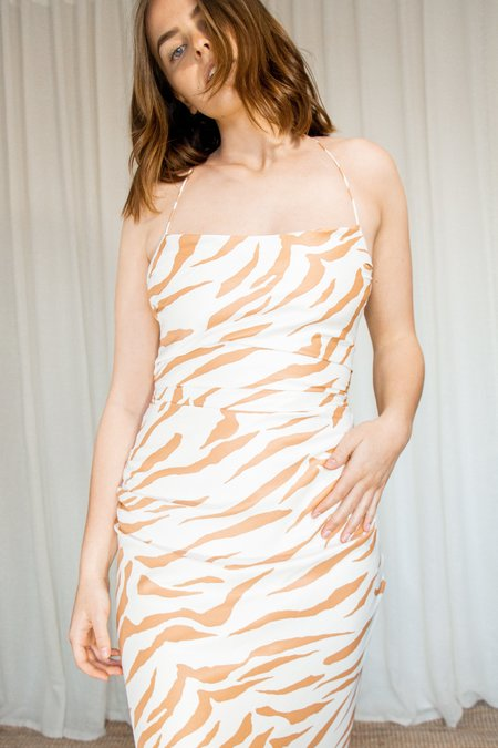 Shona Joy Alto Ruched Backless Slip Dress