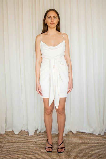 Shona Joy Lautner Tie Front Mini Dress