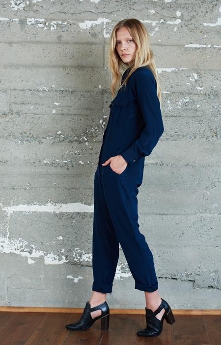 KAMPERETT Maud Silk Utility Jumpsuit