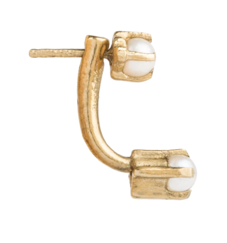 Aesa Double Muse Studs with Pearls