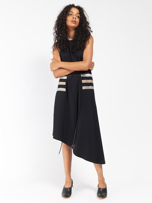 CF Goldman Multi Pull Dress Black