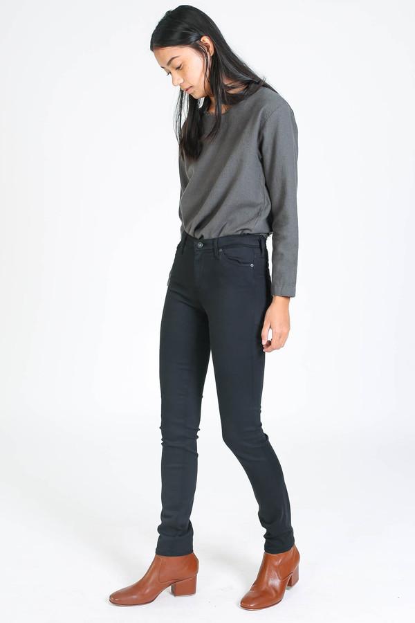 AG Jeans Sateen Prima in Super Black