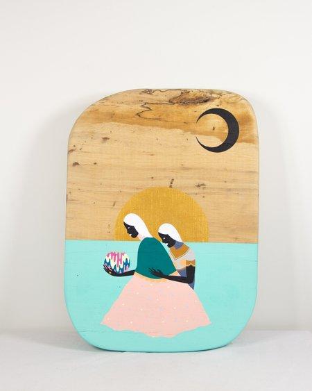 "Adrian Landon Brooks ""Moon Phase One"" Painting"