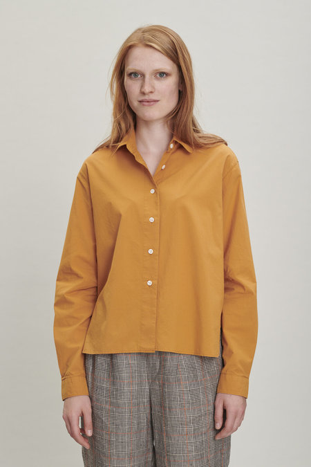 Delikatessen Relaxed Cropped Blouse - Orange