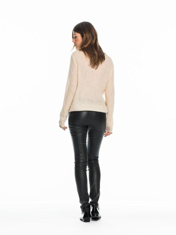 Women's Leather Leggings - Black