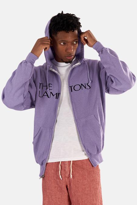 Kids Blue&Cream Lamptons Hoodie Sweater - Purple