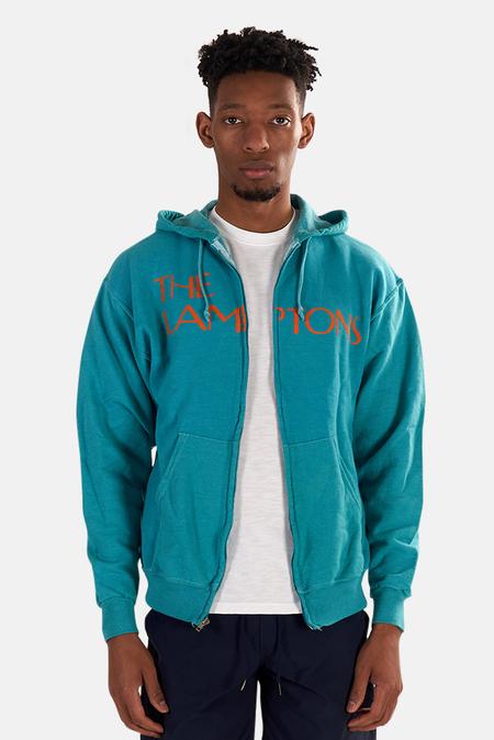 Blue&Cream Lamptons Hoodie Sweater - Teal/Orange
