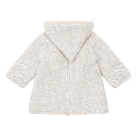 Kids Bonton Mamouth Burnous Sweater With Fur Lining - Beige Brown
