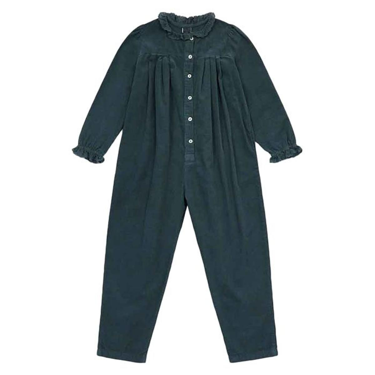 Kids Bonton Child Soleil Velour Jumpsuit Tarmac Grey Garmentory