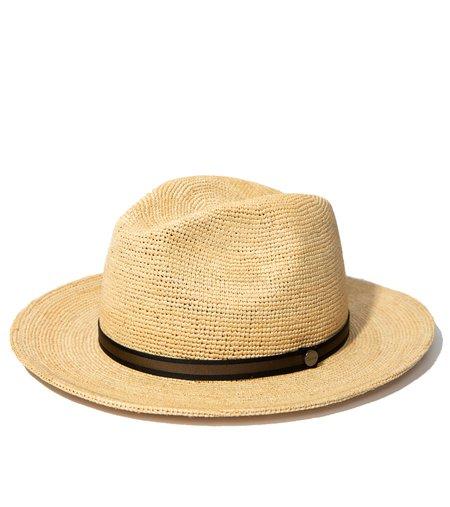 Borsalino x FSC Crochet Raffia hat - Natural