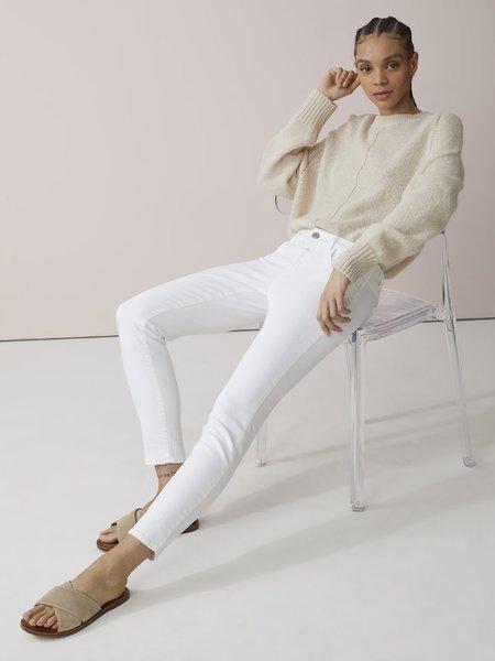 closed baker jean - white