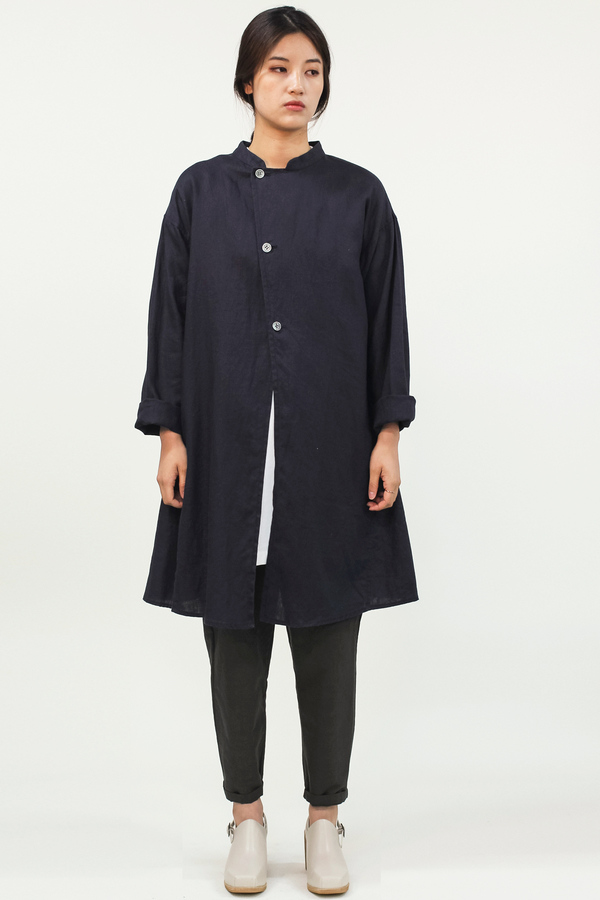 Universal Tissu Linen Jacket- Navy