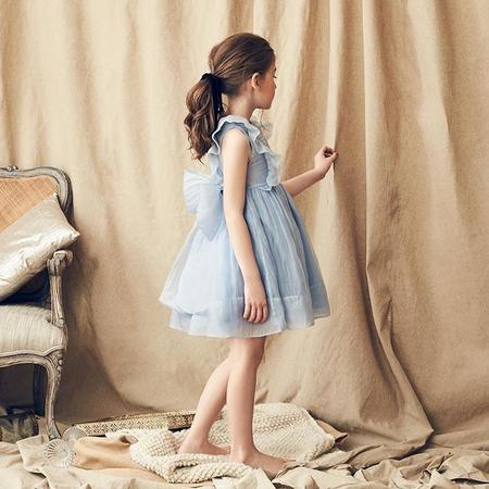 Kids Nellystella Mae Dress - Iris Blue