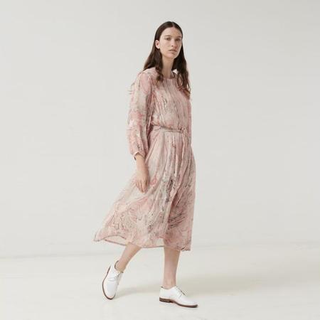 Polder Woman Bella Long Sleeved Dress - Marbled Pink