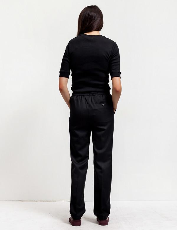 Sunspel Womens Drawstring Trousers Black