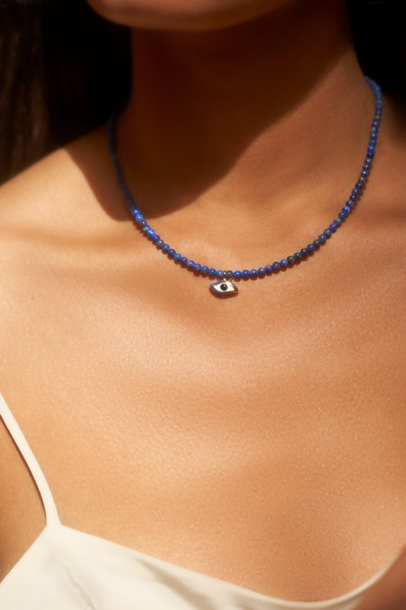 Pamela Love Beaded Eye Necklace