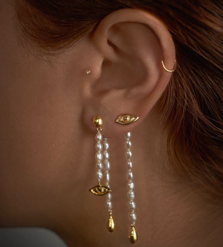 Pamela Love Crying Eye Ear Jacket - Gold Plate