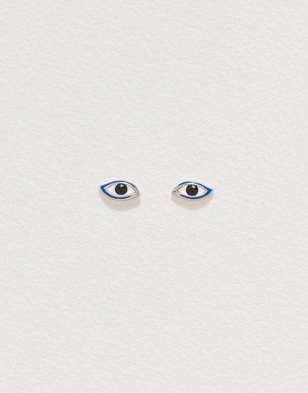 Pamela Love Enamel Eye Studs - Sterling Silver