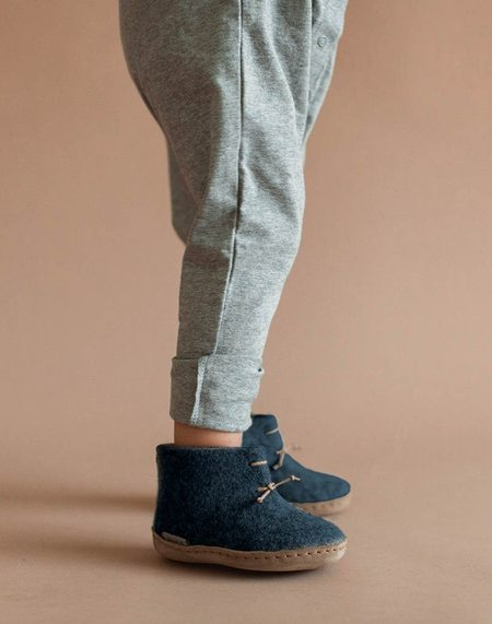 Kids Glerups Wool Baby Boots - Denim