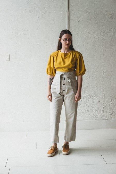 Town Clothes QUINCE SILK NOIL BLOUSE - SUNFLOWER