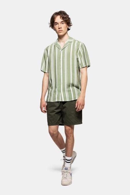 Revolution Short Sleeve Shirt - Green Stripe