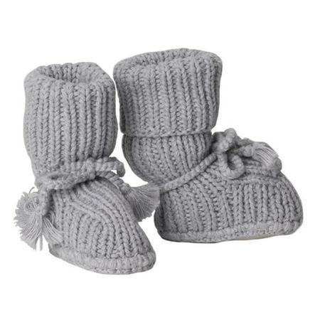 kids Tane Organics Ties Sock Booties - Graphite Grey