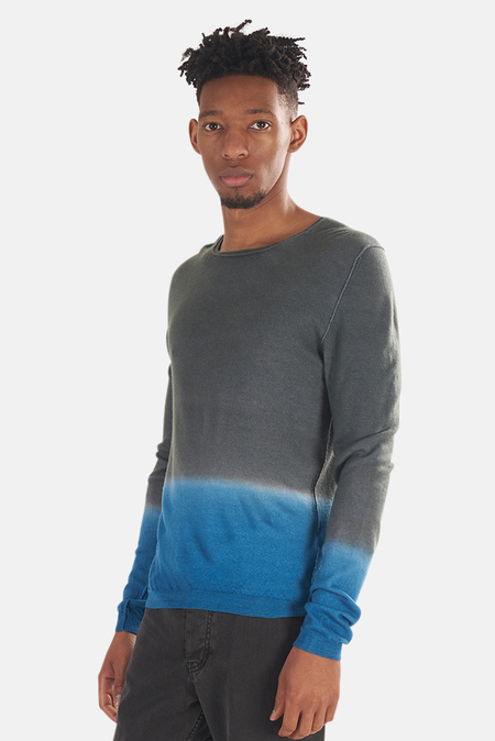120% LINO Dip Dye Cashmere Sweater - Blu/Grigio