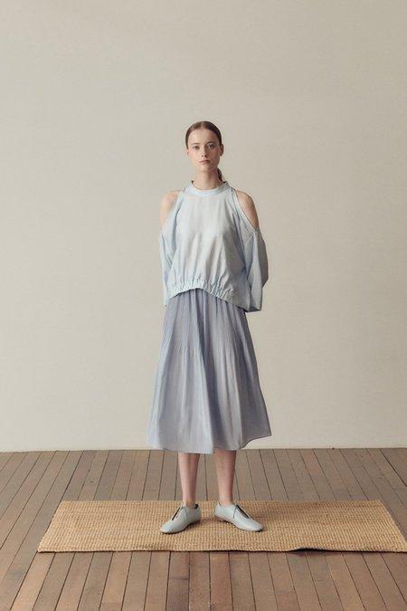 Hidden Forest Market Fortuna Pleats Silky Skirt - Light Blue