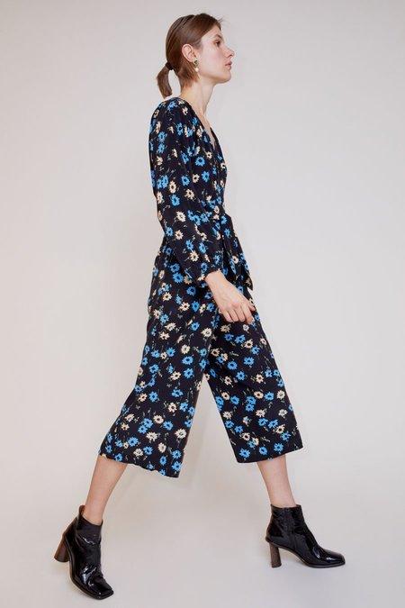 No.6  Romy Jumpsuit - Black/Blue