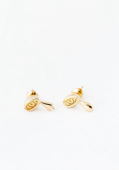 Elaine Ho Talisman Crying Eye Studs - 14kt Gold