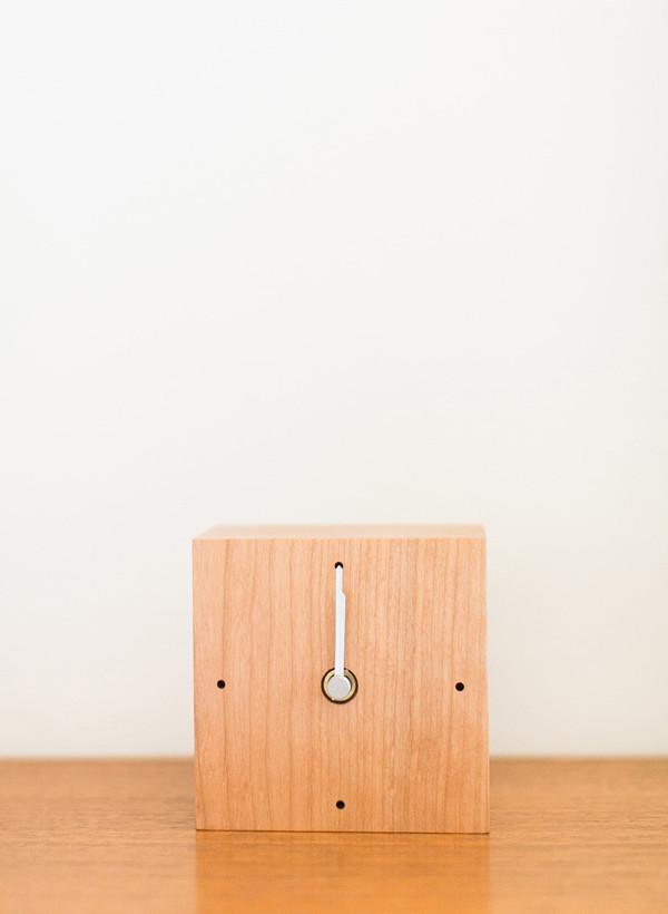Takahashi Kougei Wooden Square Clock