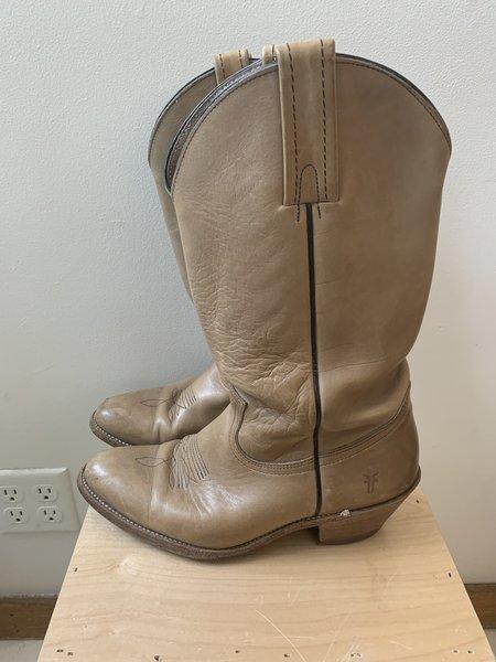 Pre-loved Frye Western Boots - light tan